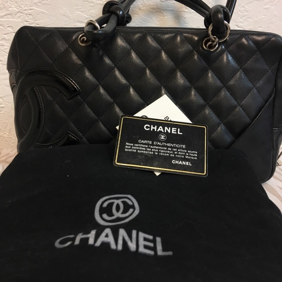 385a82f0976c CHANEL Handbags - AUTHENTIC Chanel black Cambon bowling bag